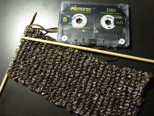 cassette tape scarf